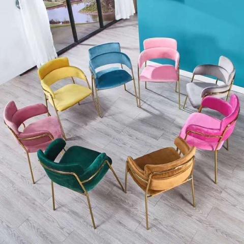 胜芳家具批发 网红椅 铁艺椅 甲壳虫椅 钛金椅 咖啡椅奶茶椅主播椅可定制主题餐厅椅酒店椅软包椅 时尚椅子 中庆德家具