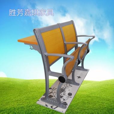 【嘉琪家具】厂家直供铝合金阶梯教室排椅 自动回弹翻板椅  礼堂椅 课桌椅 联排椅 会议椅