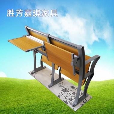 【嘉琪家具】厂家直供铝合金阶梯教室排椅 滑槽桌面 礼堂椅 课桌椅 联排椅 会议椅