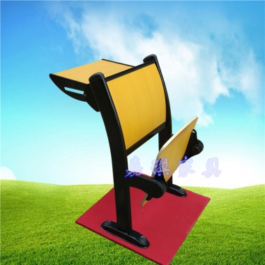 【嘉琪家具厂家直供弯靠背阶梯教室排椅 课桌椅 礼堂椅 联排椅 会议椅