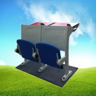 【嘉琪家具】软包抽拉桌面阶梯教室排椅  课桌椅 礼堂椅 会议室座椅 联排椅