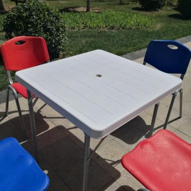 【嘉琪家具】厂家直供摆地摊桌子  折叠桌 大排档桌子 折叠方桌 防水耐脏 省运费