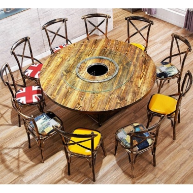 胜芳餐桌椅批发 复古式餐桌椅 实木餐桌椅 主题餐桌椅 转印餐桌椅 钢木家具 快餐桌椅 休闲家具 火锅桌椅  长兴源家具