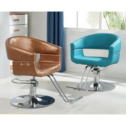 胜芳理发椅批发复古剪发椅铁艺美发理发椅发廊专用脚踏可升降理发椅美容椅鑫美耐家具