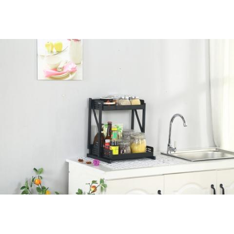 胜芳多层架 置物架 储物架 杂物架 整理架 收纳架 简易家具室架 折叠置物架 浴室家具 厨房家具 扬名家具