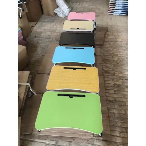 胜芳家具批发 笔记本电脑桌 床上用 宿舍 懒人可折叠学习 写字 书桌 小桌子 大学生餐桌 红生家具