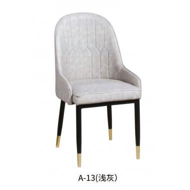 胜芳批发 家用现代 轻奢 铁艺酒店餐厅椅 北欧风 靠背休闲椅 餐椅 简约邦桥家具