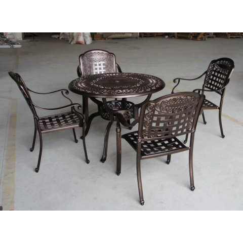 胜芳桌椅批发 塑木户外桌椅 铸铝桌椅组合 木条桌椅 长桌长凳 户外圆桌 户外椅子 扶手椅 户外家具铸铝 博涵家具