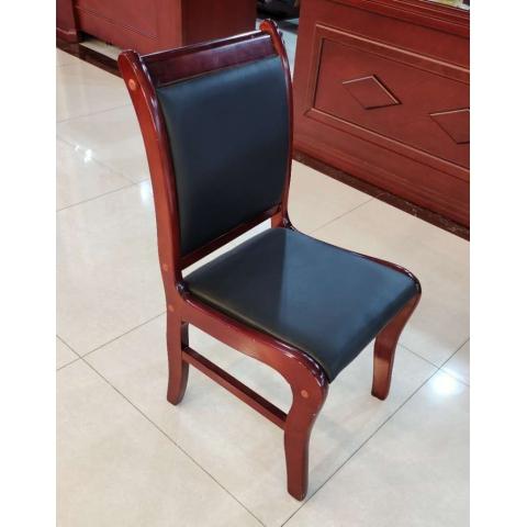 橡木胜芳办公椅批发 会议室椅子 会议椅 四腿实木办公椅 实木办公椅 带扶手靠背椅办公椅 办公家具 广信办公家具