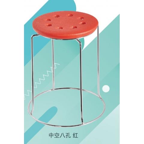 胜芳批发  四连平8孔 圆凳子   不锈钢 实心架 五金 换鞋餐凳  网红  现代简约 家用  梦阳家具