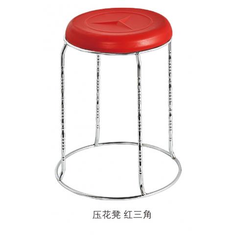 胜芳批发 压花凳 圆凳子   不锈钢 实心架 五金 换鞋餐凳  网红  现代简约 家用  梦阳家具