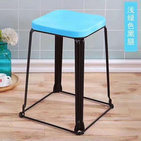 胜芳批发 现代时尚凳子 成人 加厚 塑料凳 家用凳子 餐桌凳 套凳 梦阳家具