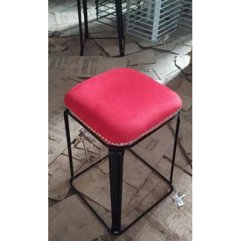 胜芳批发 现代时尚凳子 方凳 挂钉红绒 成人 加厚 塑料凳 家用凳子 餐桌凳 套凳 梦阳家具