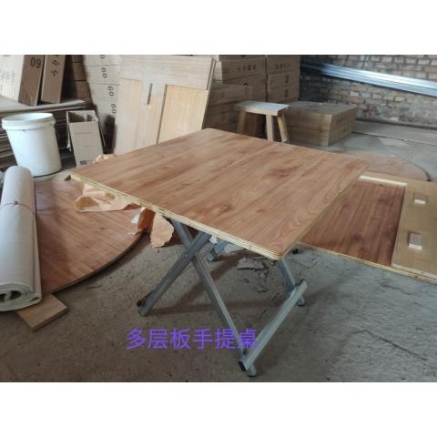 胜芳折叠桌 快餐桌 钢木酒店家具 简易折叠桌 手提桌 小方桌 圆盘桌 木质折叠桌 益琳家具