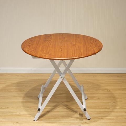 折叠桌批发 家用折叠桌便携简易吃饭桌子现代简约圆桌欧式小户型圆形餐桌