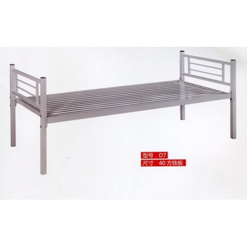 胜芳床类批发 简约 现代 铁艺床 铁架床 单人床 成人 单层 员工铁床 床架 睿鑫家具
