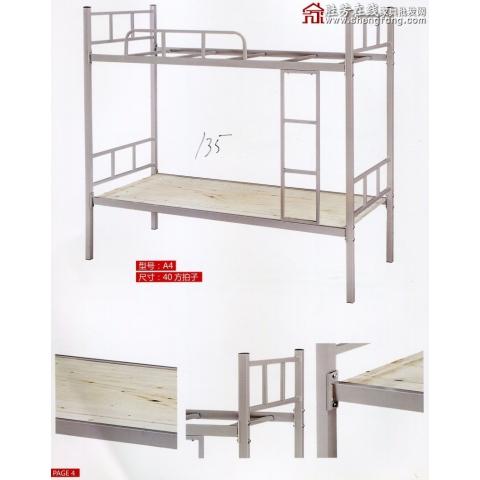 胜芳床类批发 简约 现代 铁艺床 铁架床 双人床 成人  员工铁床 床架 睿鑫家具