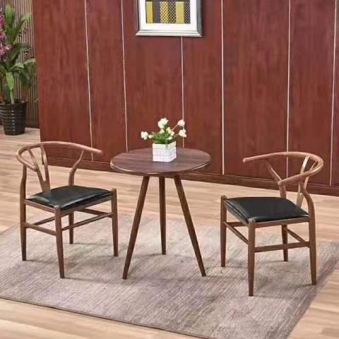胜芳餐椅批发 北欧实木 牛角椅 餐椅 餐桌椅 实木餐桌椅 咖啡厅休闲餐桌椅 靠背 会议椅 简约书椅 家用餐桌椅  金旭家具