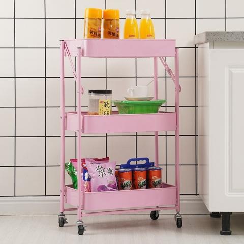 胜芳多层架 置物架 储物架 杂物架 整理架 收纳架 简易家具室架 折叠置物架 浴室家具 厨房家具 西汇家具