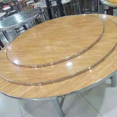 胜芳家具批发 简约餐桌 小户型餐桌 转盘餐桌 家用餐桌 餐厅家具  圆形餐桌 益琳家具