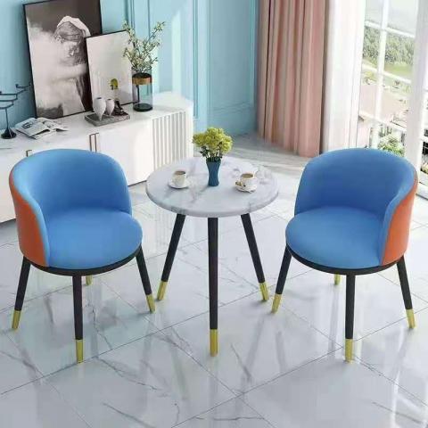 胜芳餐桌椅批发  餐桌椅 快餐桌椅 小圆桌 现代家用 洽谈 接待 北欧 咖啡桌椅  琪睿家具