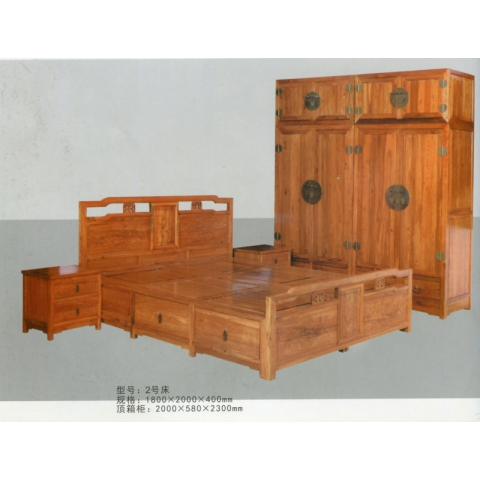 胜芳床批发 卧室家具 床 实木 中式 现代 简约 双人床 硬床 双全实木家具