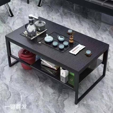 A-05胜芳茶几椅批发 功夫茶几 火烧石茶台 木纹石茶桌 茶艺宏羊家具