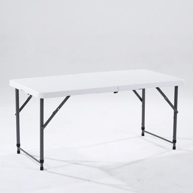 【嘉琪家具】1200mm*600mm吹塑桌面的伸缩腿折叠桌厂家直供摆地摊桌子  折叠桌 大排档桌子 折叠方桌 防水耐脏 省运费