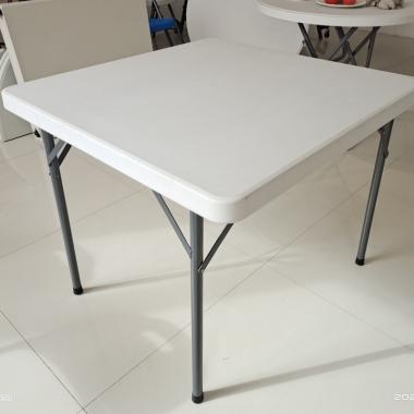 【嘉琪家具】880mm*880mm吹塑桌面的折叠桌厂家直供摆地摊桌子  折叠桌 大排档桌子 折叠方桌 防水耐脏 省运费