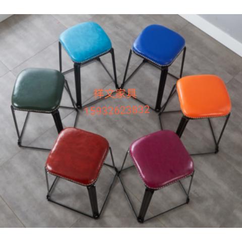 祥文家具方凳钢筋凳塑料凳胜芳圆凳铁皮凳