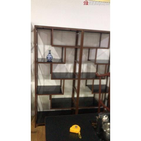 胜芳博古架批发 新中式 展示架 置物架 古董架 茶室 装饰架 展示柜 书房家具 客厅家具 佐尚家具