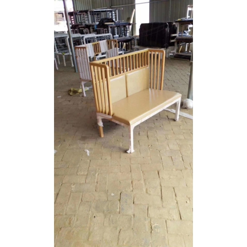 酒吧椅休闲椅洽谈桌椅软包椅新中式酒店桌椅铁艺卡座定制