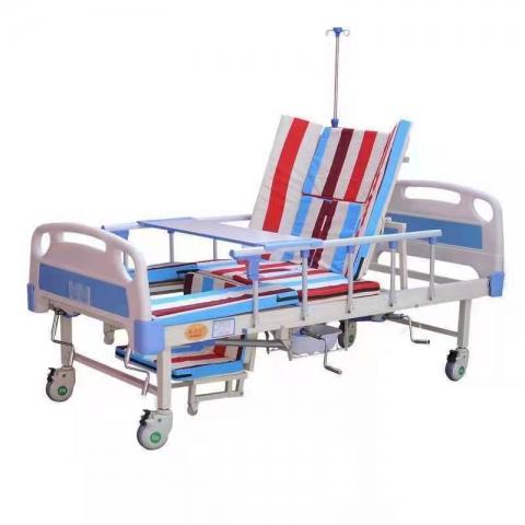 胜芳病床批发  医院用床 卧床 老人护理床 多功能床 输液床 病床 手摇床 宝山家具系列