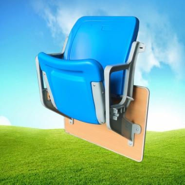 【嘉琪家具】铝合金支架壁挂式联排看台椅,适用于户外,单腿重量两公斤