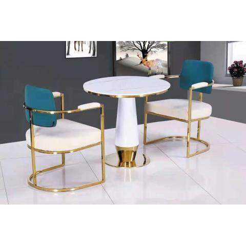 胜芳休闲轻奢桌椅批发,咖啡桌椅,网红桌椅,洽谈,接待桌椅,钛金桌椅,北欧钛金桌椅 雅轩家具