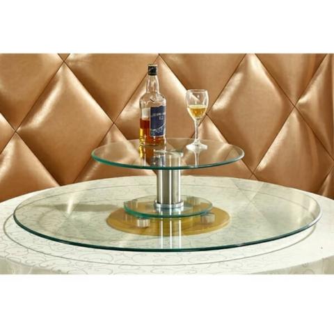 胜芳批发钢化玻璃转盘挖洞玻璃转盘车彩玻转盘加餐台
