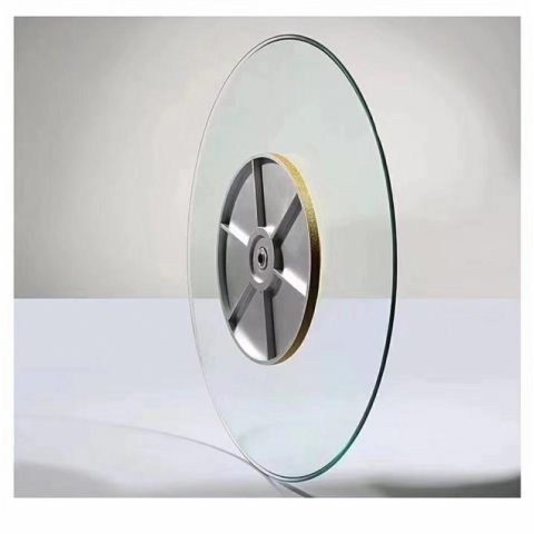 胜芳批发钢化转盘挖洞玻璃转盘车彩玻转盘加餐台