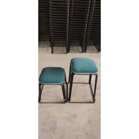 胜芳铁腿凳子批发   钢筋凳,套凳,方凳  北欧凳 软包凳 铁腿凳子 餐桌凳 套凳 双兴家具