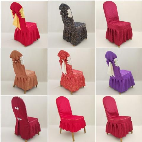 胜芳椅套批发 椅套 酒店餐厅饭店椅子套罩通用连体座椅套布艺婚庆宴会专用凳子套定做 晨阳家具