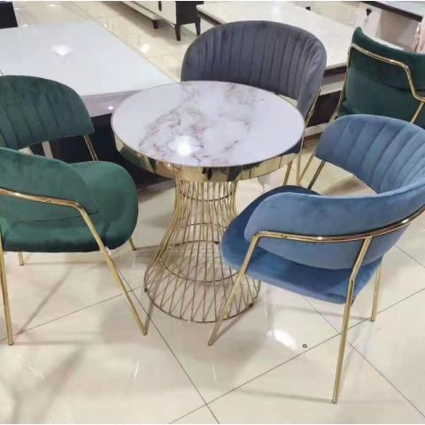 胜芳休闲轻奢桌椅批发,咖啡桌椅,网红桌椅,洽谈,接待桌椅,钛金桌椅,北欧钛金桌椅,沙发椅,盛源家具