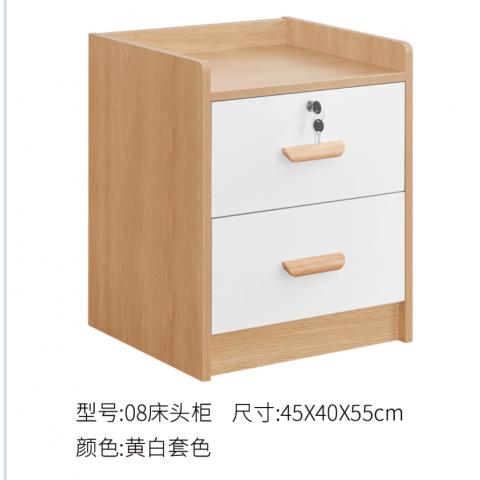 胜芳床头柜批发 储物柜 收纳柜 简约床头柜 中式储物柜 卧室家具 广兴家具