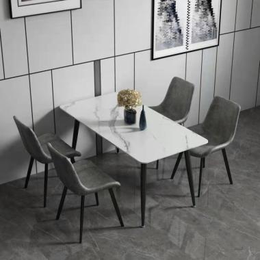 胜芳餐桌批发 岩板餐桌 理石餐桌  铁艺餐桌  家用餐桌 方形餐桌 小户型 北欧风格 简约  轻奢餐桌 餐厅家具 浩晟家具