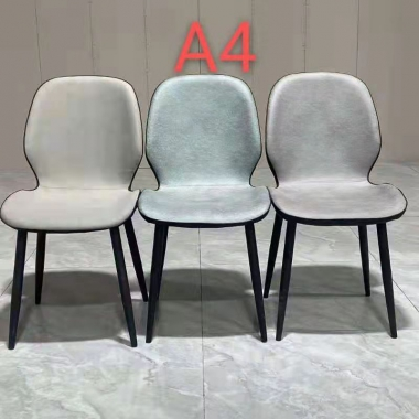 胜芳软包椅批发 家用现代 轻奢 铁艺酒店餐厅椅 北欧风 靠背休闲椅 餐椅 软包椅 餐厅椅简约邦桥家具