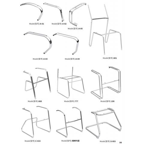 胜芳椅子架 金属加厚 不锈钢快餐椅子架 钢管椅 酒店宾馆椅子腿 永德家具