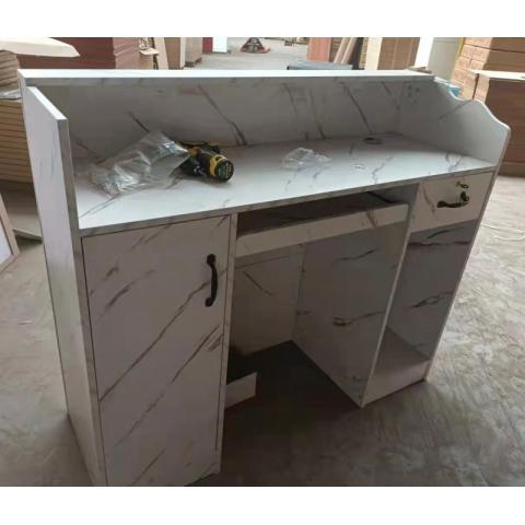 胜芳前台桌批发 公司前台  吧台 板式前台柜 收银台 办公家具 板式家具 凤阳家具